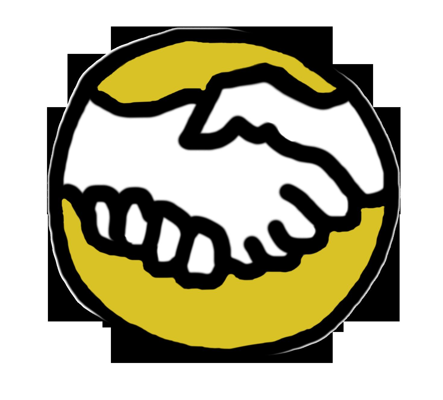 handen pictogram geel